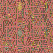 Geometric seamless pattern with rhombuses shapes on red background