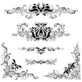 Vintage design elements isolated on a white background Page decorations and dividers
