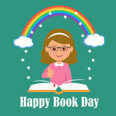 Happy Book Day The concept of background magic of reading