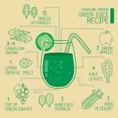 Hardcore greens, green juice recipes great  detoxify