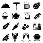 A collection of funny Icons regarding all type of foods and drinks