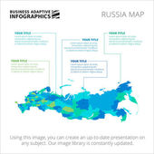 Editable template of detailed map of Russia isolated on white
