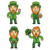 Saint Patricks Day Kobolde Satz
