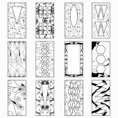 Doors monochrome vector illustration of a collection of symbols