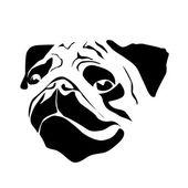 Vektor-Zeichen-Kopf des Hundes
