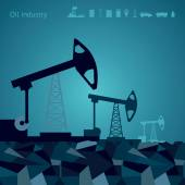 Vector oil pump backgrounds with a icon Templates for infographics