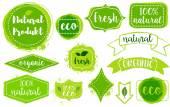 Bio friss eco-címkekészlet