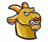 Vector illustration of goat head