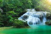 Erawan Waterfall, beautiful waterfall in rain forest, Erawan National Park in Kanchanaburi, Thailand