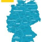 Постер, плакат: Germany map flag and navigation labels illustration