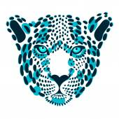 Vector stylized face leopard for print on clothing top t-shirt