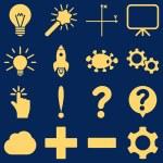 Постер, плакат: Basic science and knowledge icons