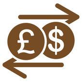 Ikona výměna peníze z podnikání Bicolor Set