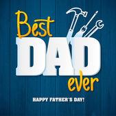 Glückliche Vater Day.Happy Väter Tag Karte retro-Type-Schriftart