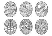Zentangle easter eggs for coloring book for adult