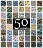 Set of Seamless Camouflage Pattern Vector