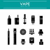Vector Set of Vape Line Icons