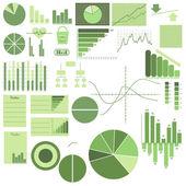 Satzelemente, Grafiken und Logos, die mithilfe der Diagramme für die conve