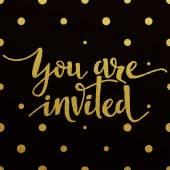 Zlatá písmena design pro kartu jste zváni