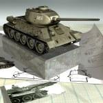 ������, ������: T34 85 scale model
