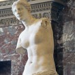 Постер, плакат: PARIS FRANCE NOVEMBER 27 2009: The Venus de Milo statue in the Louvre museum
