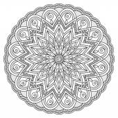 Mandala with hand drawn elements Image for adult and children coloring books pages tattoo For decorate dishes cups porcelain ceramics Vector illustration - eps 10