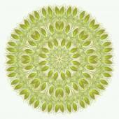 Vektor-Mandala. Abstraktes Vektor florale ornamentale Rahmen. Spitzen-p
