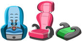 Dětské autosedačky kolekce izolované