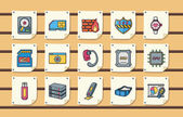 Technology and network icons seteps10