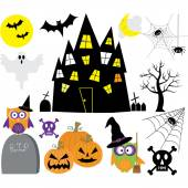 The vector for Halloween Elements set