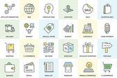Einkäufe und Commerce-Vektor-Icons 1