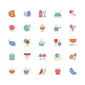 Dinner s ready These Food Vector Icons will satisfy all your design hungers Included in this pack are all kinds of delicious goodies and good eats and drinks Practically anything you need to fill that belly
