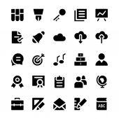 Vzdělávání solidní vektorové ikony 2