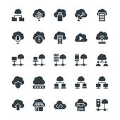 Cloud Computing vector icons for your personal files entertainment work music movies and more Storage is now in the cloud so use these vectors for all your projects