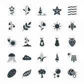 Go green with these brand new Nature Colored Vector Icons You will love using these vectors in nature, ecology, environment and sustainability related work