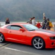 Постер, плакат: Red Chevrolet Camaro in Kyoto
