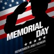 Постер, плакат: Memorial day Remember and honor