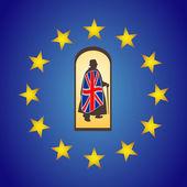 Brexit vektorové koncept