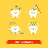 Children teeth care and hygiene
