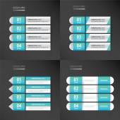 Blue color banner pack 4 item