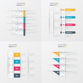 Timeline vector design 4 item yellow blue pink color