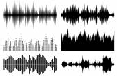 Sound waves set Best music elements for any design