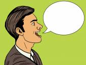 Man speak pop art style vector illustration Human illustration Comic book style imitation Vintage retro style Conceptual illustration