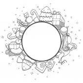 Vector colorless illustration christmas greeting card christmas card greetings abstraction