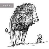 Gravieren, Löwe-Abbildung
