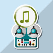 Hudební ukázka design, upravitelné vektorové