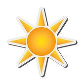 Flat design geometric sun representation icon vector illustration