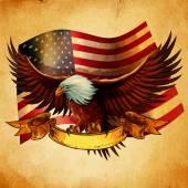 Eagle bird animal on background