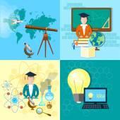 Education concept: student, school board