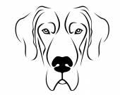 Dog Breed Line Art Logo